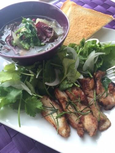 パクチーとバイマックルーのアジアン野菜で気が巡る料理