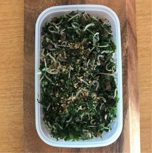 かぶや大根の葉とちりめんじゃこ、ごまで作る、絶品ふりかけのレシピ